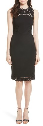 Women's Ted Baker London Verita Cutout Yoke Sheath Dress $295 thestylecure.com