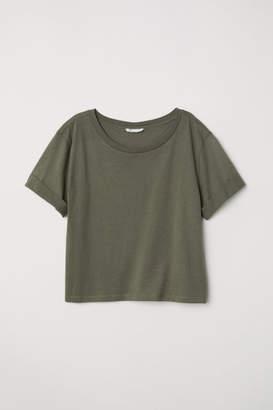 H&M Wide-cut T-shirt - Green