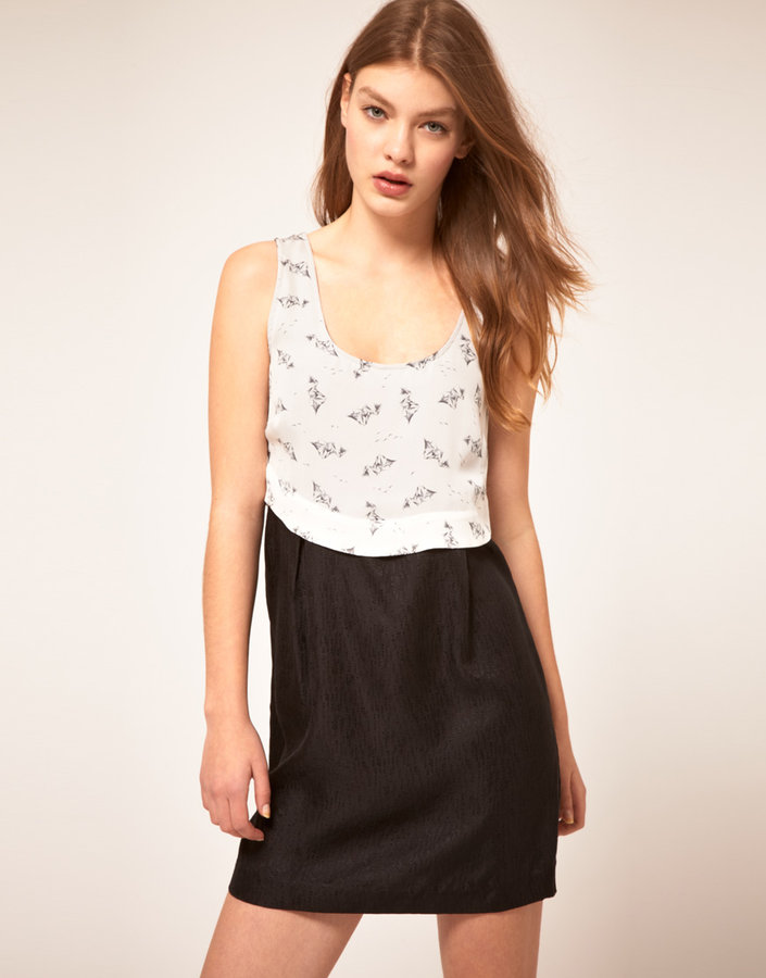 Twinkle by Wenlan Swinging Low Dress With Cut Out Back