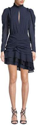 Camilla And Marc Evelyn Long-Sleeve Ruched Mini Dress