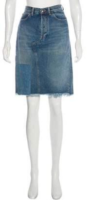 Golden Goose Knee-Length Denim Skirt