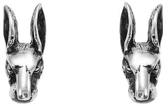 Gucci Anger Forest rabbit head earrings in silver