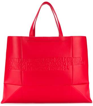 Calvin Klein embossed logo tote bag