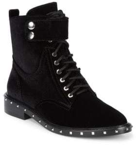 Vince Camuto Studded Velour Combat Boots