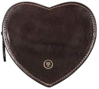 At Harvey Nichols Maxwell Scott Bags Luxury Brown Leather Heart Shaped Handbag Tidy