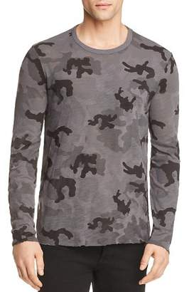 ATM Anthony Thomas Melillo Destroyed Wash Camouflage Long Sleeve Tee - 100% Exclusive