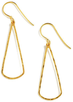 Lord & Taylor 18 Kt Gold Over Sterling Silver Open Teardrop Drop Earrings $70 thestylecure.com