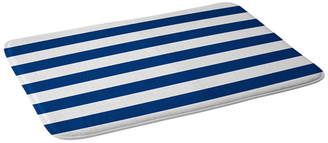 Deny Designs Holli Zollinger Navy Stripe Bath Mat Bedding