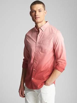 Gap Dip-Dye Standard Fit Shirt in Poplin
