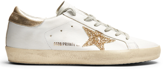 GOLDEN GOOSE DELUXE BRAND Super Star low-top leather trainers $322 thestylecure.com