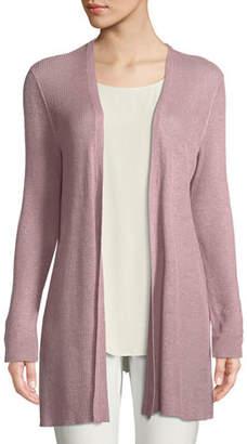 66fef8cfe53 ... Eileen Fisher Organic Linen Tencel Open Cardigan