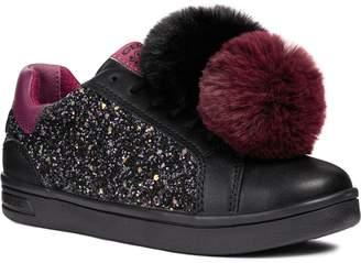 Geox DJ Rock 5 Pompom Glitter Sneaker