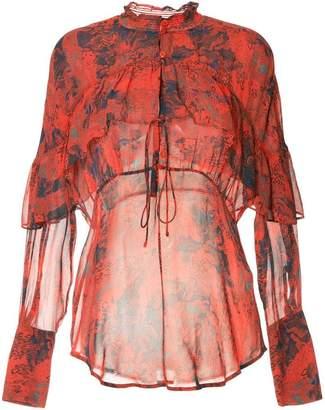 IRO printed ruffle blouse