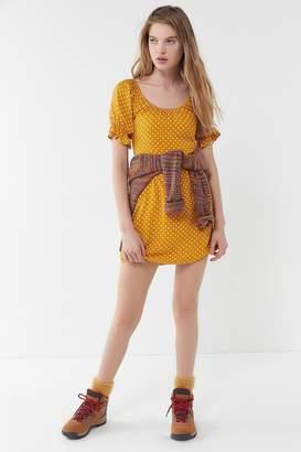 Urban Outfitters Polka Dot Puff Sleeve Mini Dress