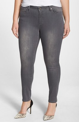 Plus Size Women's Poetic Justice Maya Ripped Stretch Skinny Jeans $49 thestylecure.com