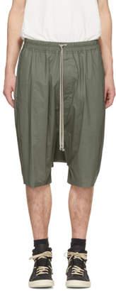 Rick Owens Green Ricks Pods Shorts