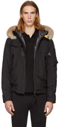 Free Express Shipping at SSENSE · Parajumpers Black Masterlight Gobi Bomber Jacket