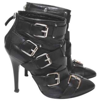 Giuseppe Zanotti Leather buckled boots
