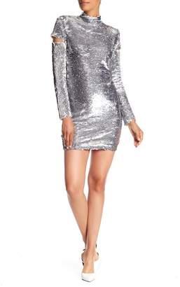 Helmut Lang Disco Sequin Cutout Dress