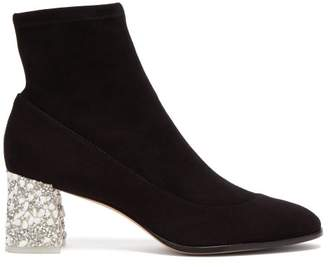Sophia Webster Felicity Embellished Suede Ankle Boots - Womens - Black