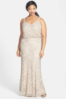 Adrianna Papell Beaded Blouson Gown (Plus Size) $280 thestylecure.com