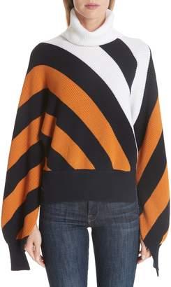 Monse Split Sleeve Wool Turtleneck Sweater
