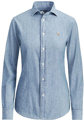 Polo Ralph Lauren Slim Fit Chambray Shirt $98.50 thestylecure.com