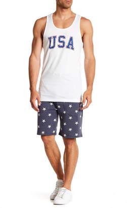 Alternative Star Printed Fleece Shorts