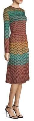 M Missoni Abito Multicolor A-Line Lurex Dress