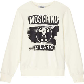 Moschino Printed cotton jumper 4-14 years $86 thestylecure.com