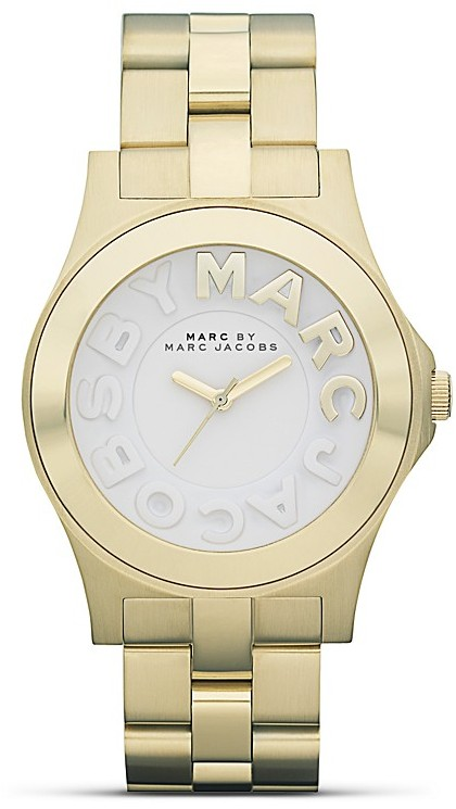 MARC BY MARC JACOBS Gold Metal Rivera Bracelet Watch, 40mm