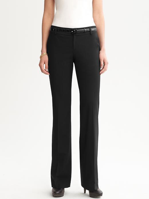 Banana Republic Martin fit black lightweight wool trouser