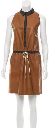 Hache Leather Mini Dress
