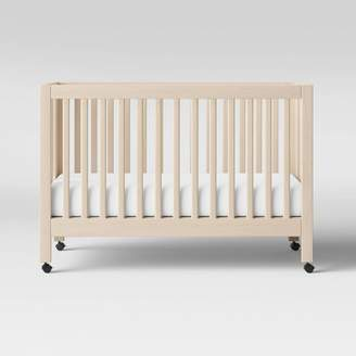 Babyletto Maki Full-Size Folding Crib With Toddler Bed Conversion Kit - Washed Natural