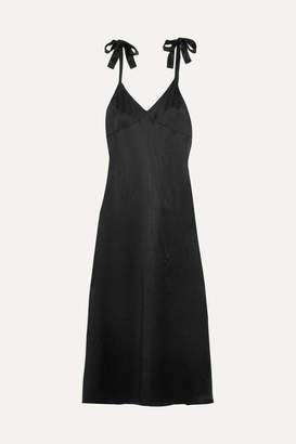 Reformation Silk Maxi Dress - Black