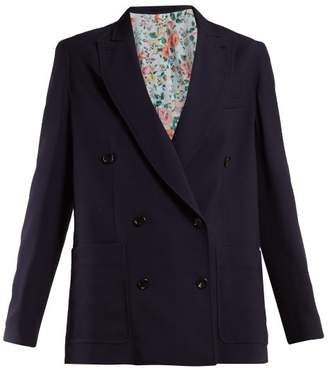 Golden Goose Verdette Double Breasted Blazer - Womens - Navy