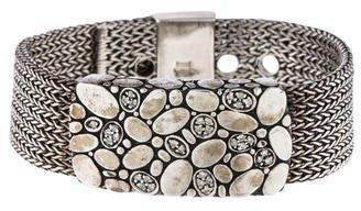 John Hardy Diamond Woven Mesh Bracelet $895 thestylecure.com