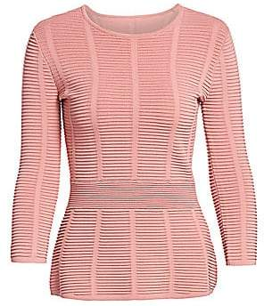 Emporio Armani Women's Ottoman Three-Quarter Sleeve Top