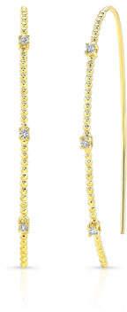 Ron Hami Bubble 14k Gold Diamond Wire Hoop Earrings