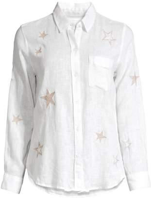Rails Charli Star-Embroidered Long-Sleeve Shirt