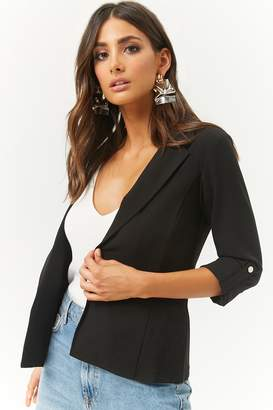 Forever 21 Notched Open-Front Blazer