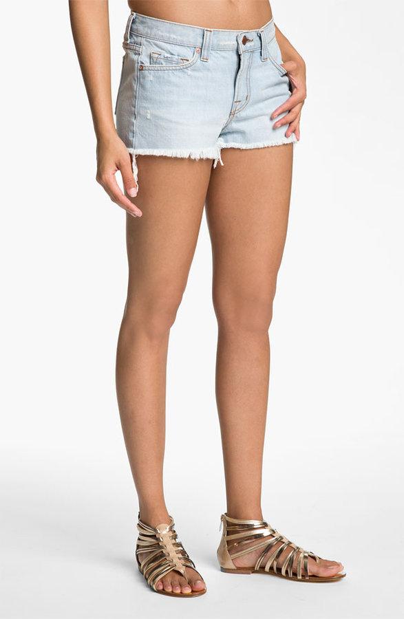 J Brand Distressed Cutoff Jean Shorts (Aquarius Wash)