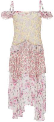 LoveShackFancy Marceline Floral Off The Shoulder Dress