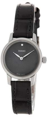 Rado Women's Coupole Mother of Pearl & Diamond Croc Embossed Leather Strap Watch, 21mm - 0.002 ctw