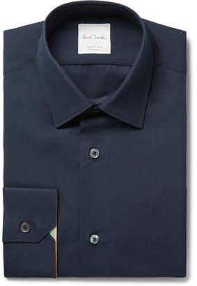 Paul Smith Navy Soho Slim-fit Cotton-poplin Shirt - Navy