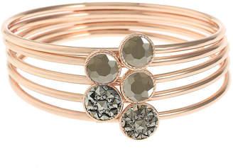 Liz Claiborne Gray Rose Tone Bangle Bracelet