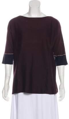 Cividini Silk Three-Quarter Sleeve Top