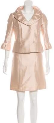 Louis Vuitton Silk Skirt Suit