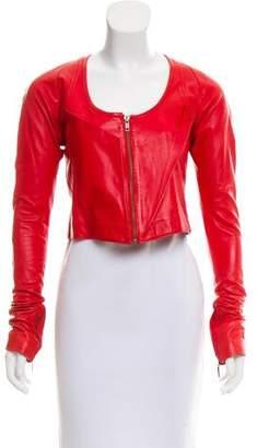 Ohne Titel Cropped Leather Jacket