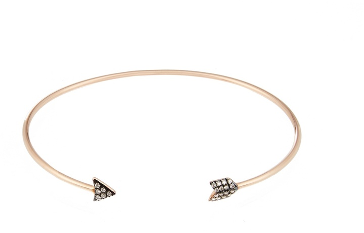 Diane Kordas Diamond & yellow-gold Arrow cuff